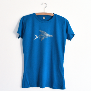 Das T-Shirt in electric blue